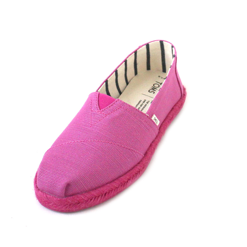 Toms Classic Heritage Canvas On Rope Women rose violet