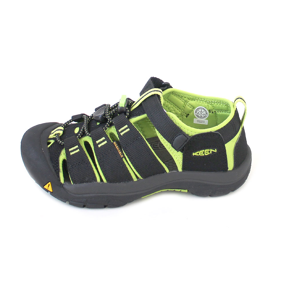 Keen Newport Youth black/lime green