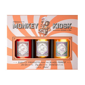 Monkey 47 Kiosk Schwarzwald Dry Gin Triple Box 3x0,05L 29-47% vol