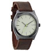 NIXON - The Time Teller Gunmetal / Brown A045-1388, Armbanduhr