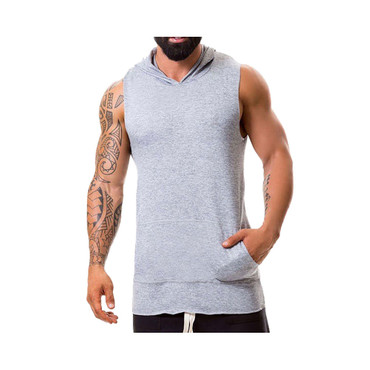 JOR Hoodie Tank Sweater Stereo grau – Bild 1