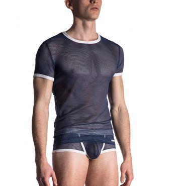 Manstore Casual Tee Shirt T Shirt steel  – Bild 3