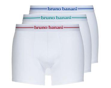 Bruno Banani Basic Power Cotton Short 3Pack weiß