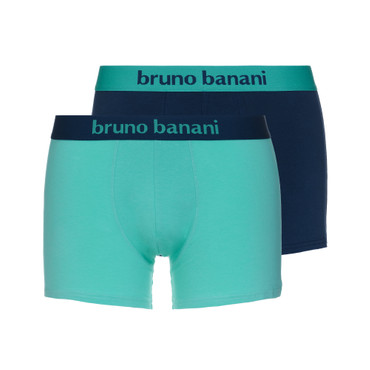 Bruno Banani Short 2Pack Flowing petro/mint – Bild 1