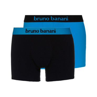 Bruno Banani Short 2Pack Flowing aquablau/schwarz – Bild 1