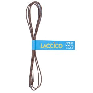 LACCICO® Medium Brown Round Ø 1,5 mm 'Cerato' Waxed Shoelaces – image 1