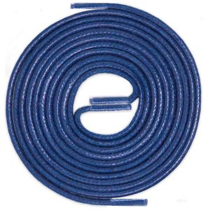 BLUE Thin Elegant Round Waxed Shoelaces Diameter 2 mm