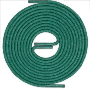 GREEN Thin Elegant Round Waxed Shoelaces Diameter 2 mm