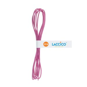 PINK Thin Elegant Round Waxed Shoelaces Diameter 2 mm  – image 3
