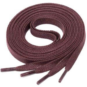 BURGUNDY Flat Waxed Shoelaces width 4 mm