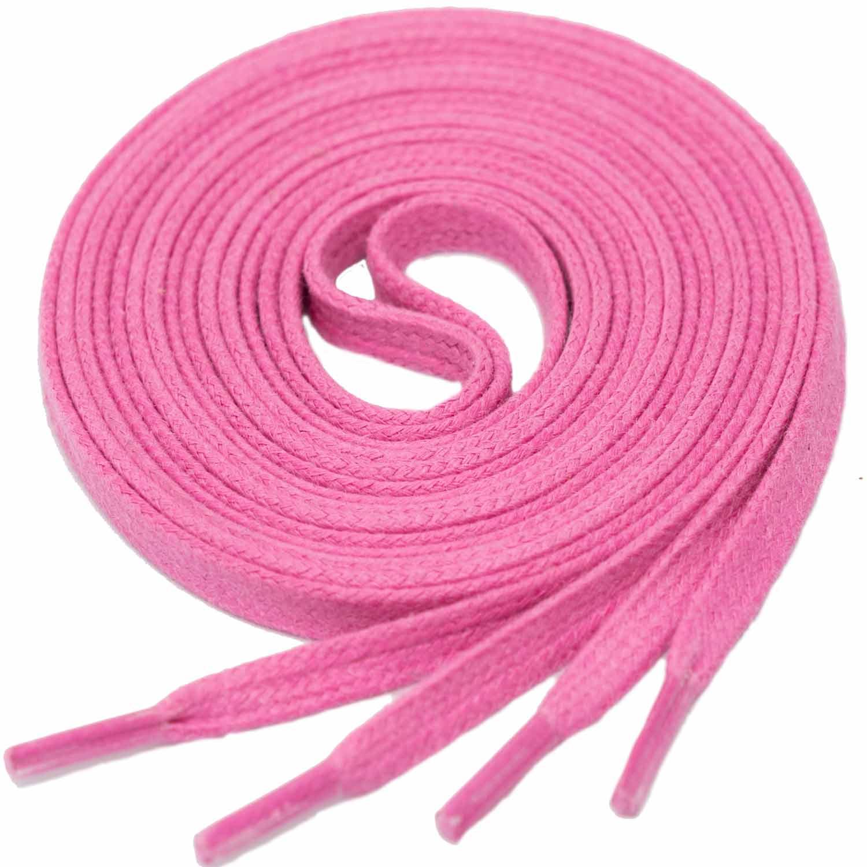 PINK Flat Waxed Shoelaces width 4 mm