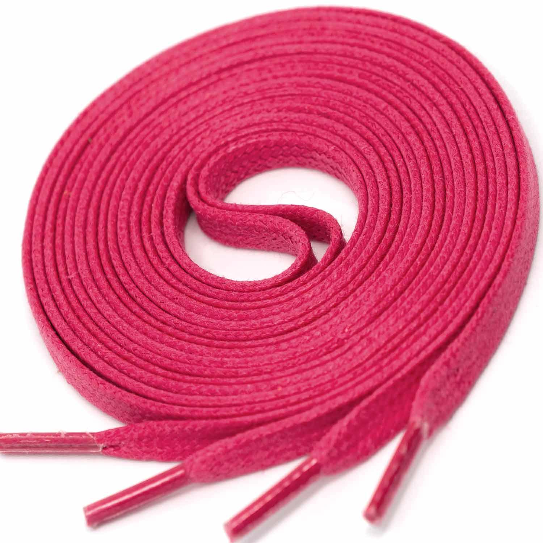 MAGENTA Flat Waxed Shoelaces width 4 mm