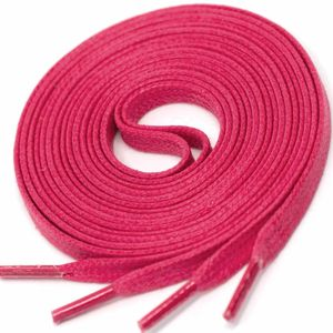 MAGENTA Flat Waxed Shoelaces width 4 mm