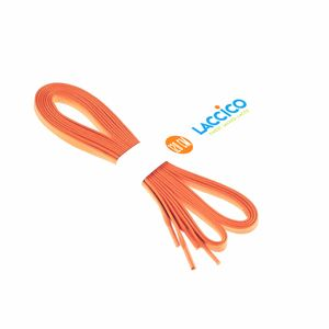 ORANGE Lacets cirés plats, largeur 6 mm – image 4