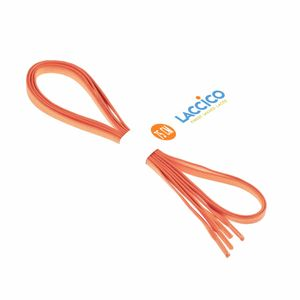 ORANGE Lacets cirés plats, largeur 6 mm – image 2
