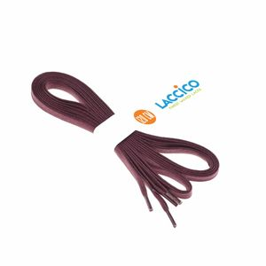 BURGUNDY flat waxed shoelaces width 6 MM – image 3
