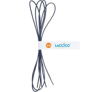 BLUE GREY Thin Elegant Round Waxed Shoelaces Diameter 2 mm  – image 4