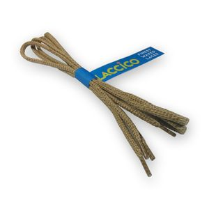LACCICO® Beige Round Waxed Shoelaces Diameter Ø 4.0 mm 'Cerato'