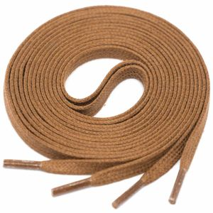 LIGHT BROWN Flat Waxed Shoelaces width 4 mm  – image 1