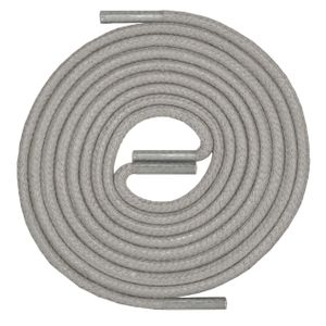 MEDIUM GREY Robust Round Waxed Shoelaces - Diameter 2.5 MM – image 1