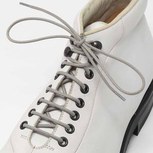 MEDIUM GREY Robust Round Waxed Shoelaces - Diameter 2.5 MM – image 3