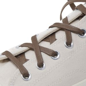 ENGLISH WALNUT flat waxed shoelaces width 6 MM – image 3