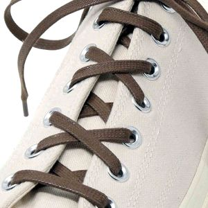 ENGLISH WALNUT flat waxed shoelaces width 6 MM – image 4