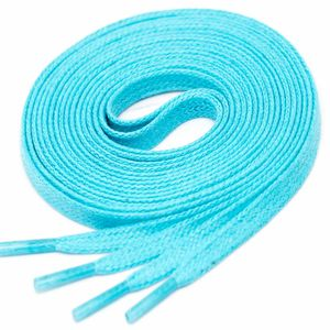 TURQUOISE Flat Waxed Shoelaces width 4 mm