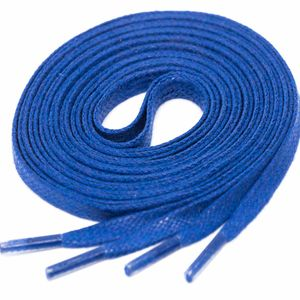 ROYALBLAU Flat Waxed Shoelaces width 4 mm