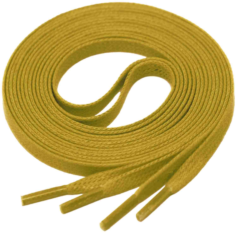MUSTARD Flat Waxed Shoelaces width 4 mm