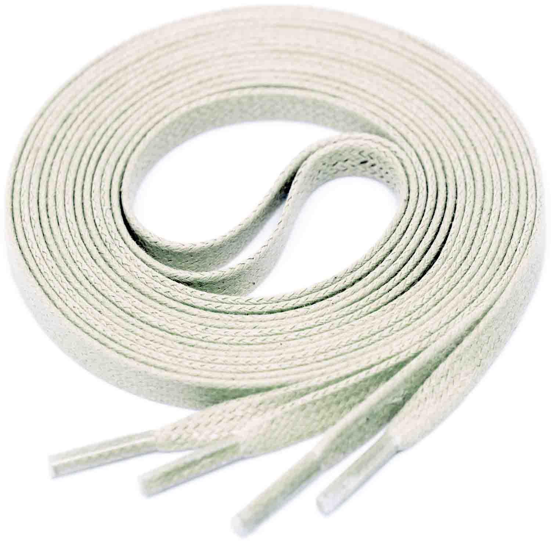 LIGHT GREY Flat Waxed Shoelaces width 4 mm