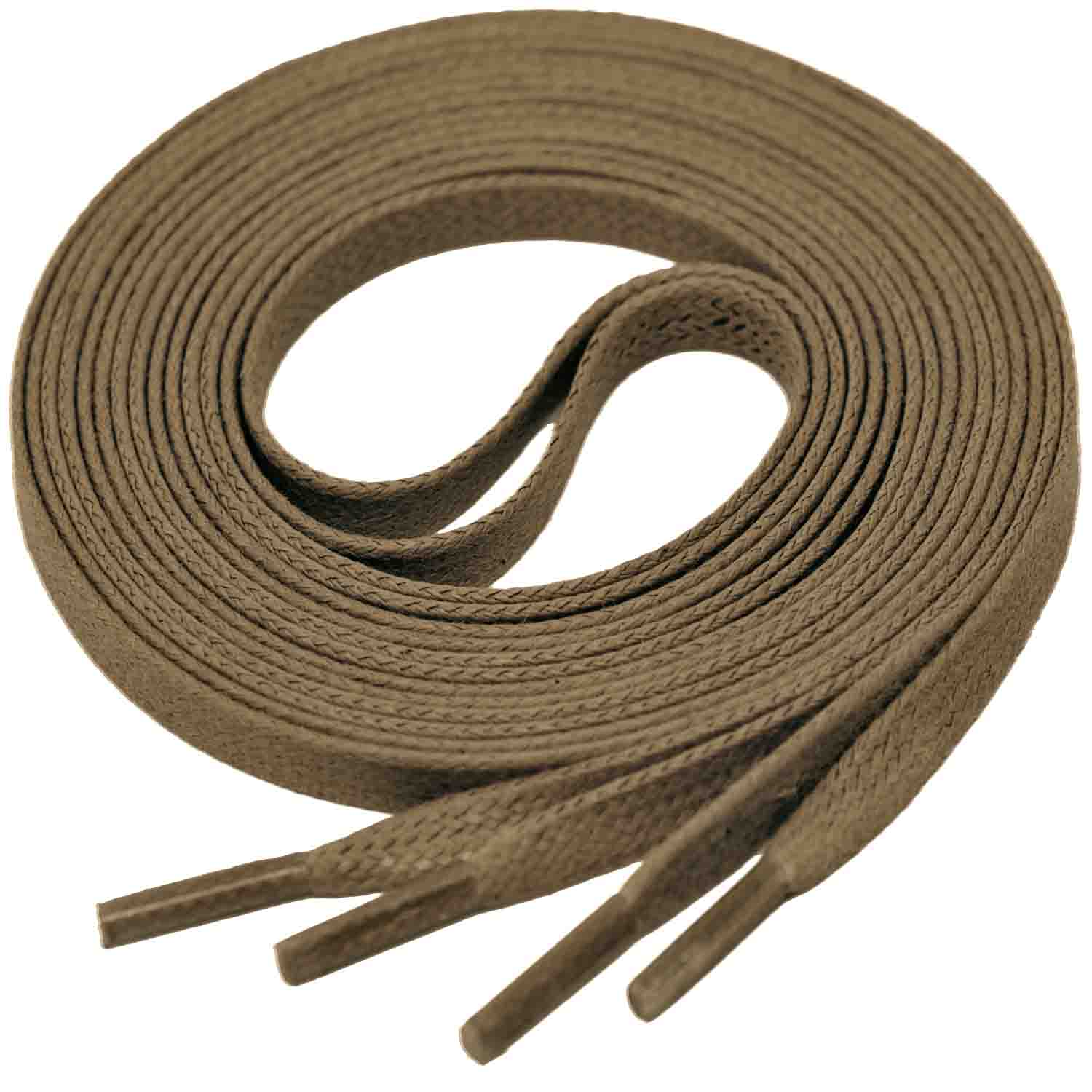TAUPE Flat Waxed Shoelaces width 4 mm