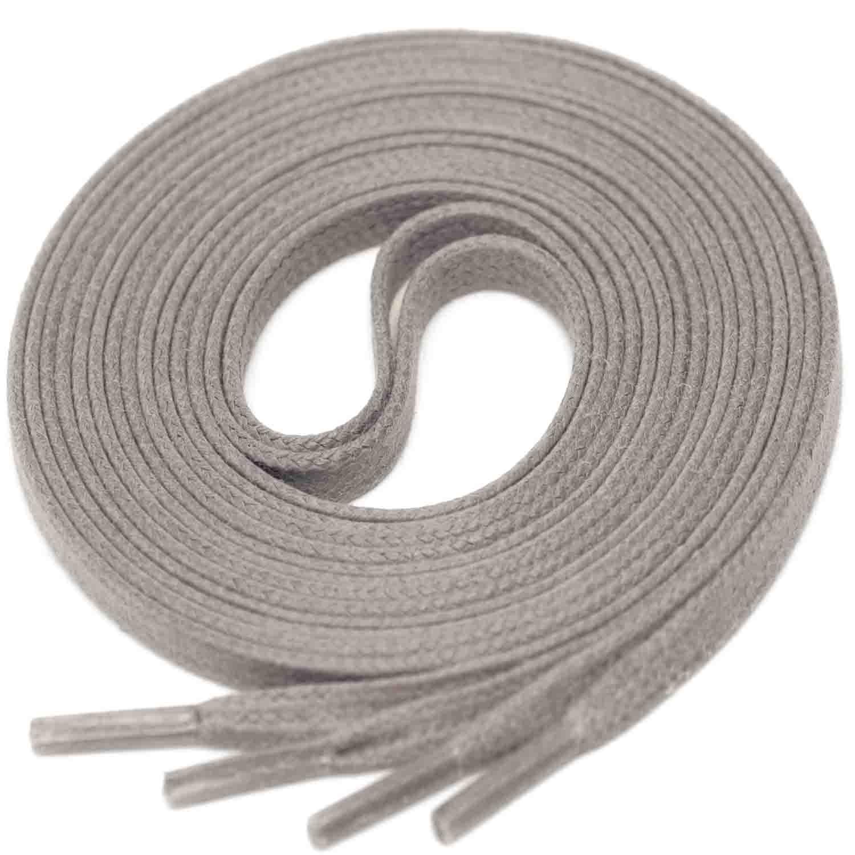 MEDIUM GREY Flat Waxed Shoelaces width 4 mm