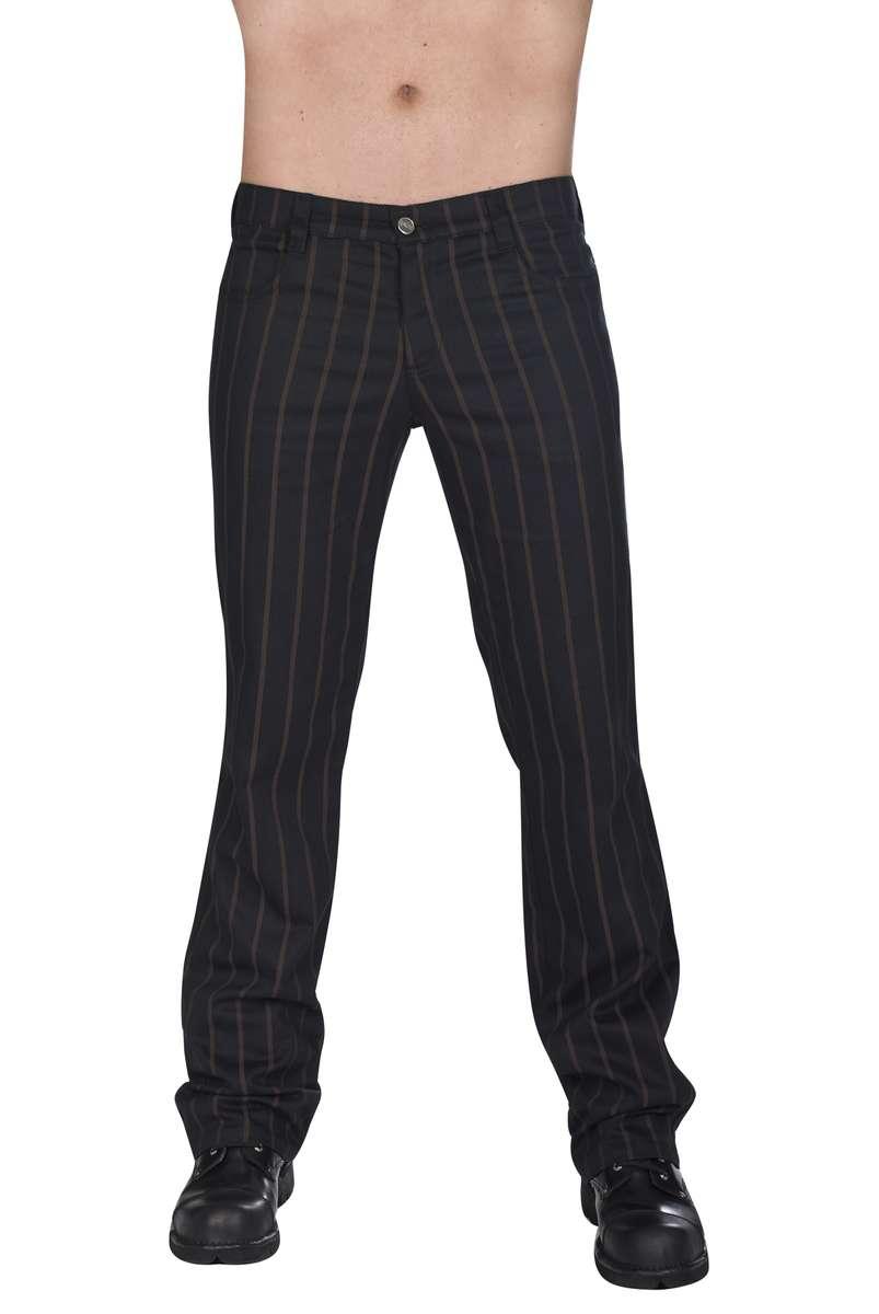 Aderlass - Jeans Steampunk Pin Stripe Black-Brown