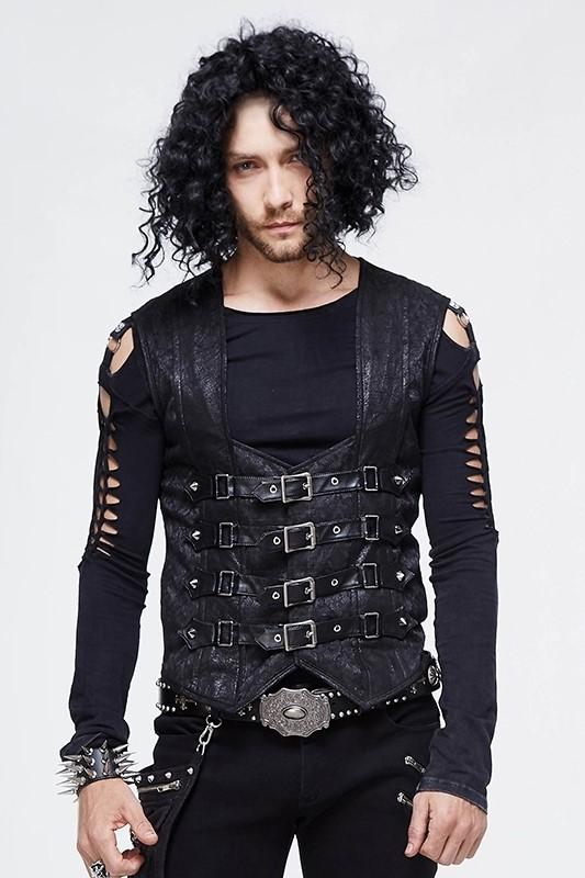 Devil Fashion - Punk Buckle Vest Weste WT03401