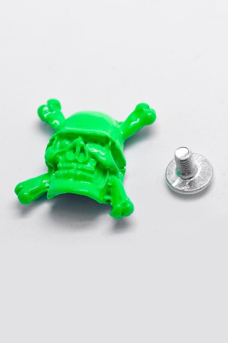 10 pieces skull screw rivets neon green