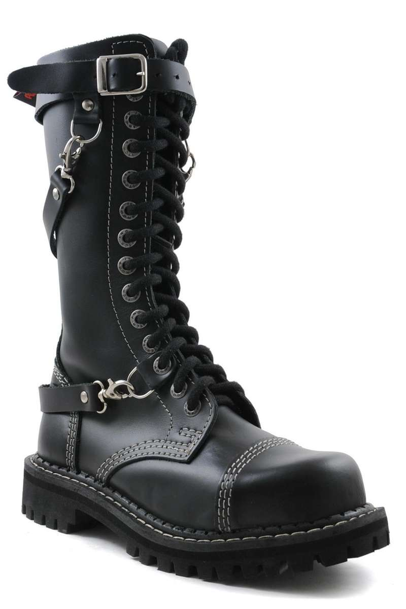 Angry Itch - 14-Hole Ranger Boots with Straps