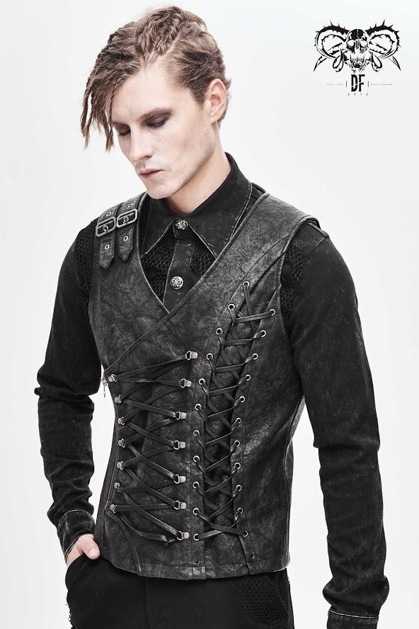 Devil Fashion - Weste mit Schnüren WT047