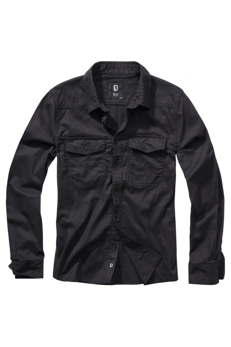 Brandit - Flannel Shirt Black