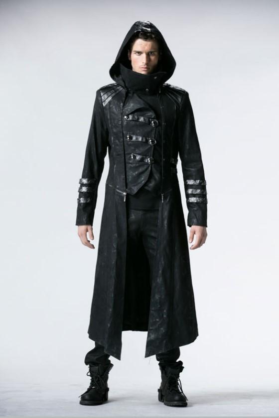 Punk Rave - Black Scorpion Mens Coat Mantel