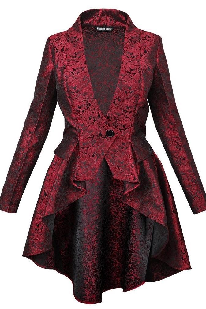 Brocade jacket Bloodlust with mandarin collar