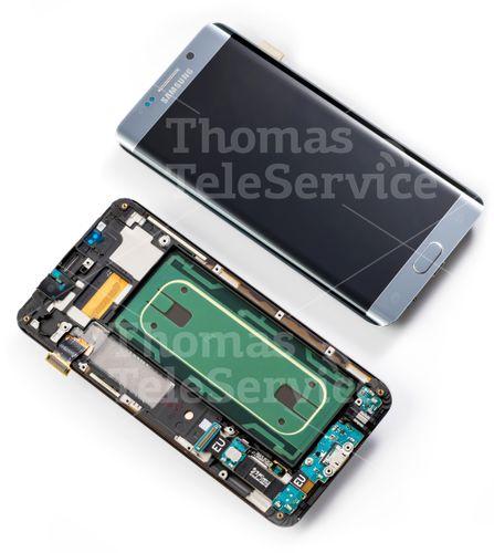 [A350] [A222]-Galaxy S6 Edge+ G928F LCD Display Touchsreen Digitizer Bildschirm silber silver GH97-17819D