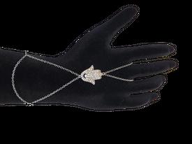 Sahmeran Ring Handkette Sklavenarmkette - Fatimas Hand Hamsa Auge Nazar – Bild 1