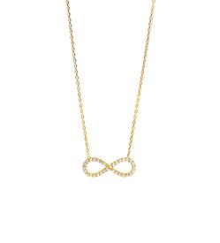 "Halskette ""Infinity""  Ewige Liebe - Zirkonia Strass, goldfarben"