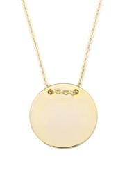 Halskette mit rundem Anhänger 'Münze' - 2 cm – Bild 1