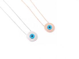 925 Sterling Silber - Elegante Halskette 'Blaues Auge' Nazar Boncuk – Bild 2