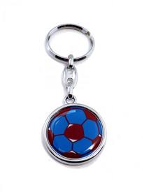 Schlüsselanhänger - Ball Fußball Trabzon TS Spor Futbol rot blau