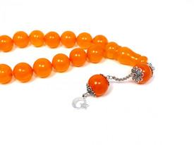 Gebetskette Tesbih Tasbih Misbaha Subha Bernstein Imitation Orange Kugeln – Bild 2