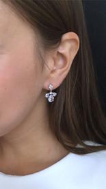 Elegante Vintage Ohrringe 'Strasssteine' - Silber Farbe