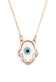 Halskette - Fatimas Hand Hamsa - mit Blauem Auge 'Nazar Boncuk' – Bild 1